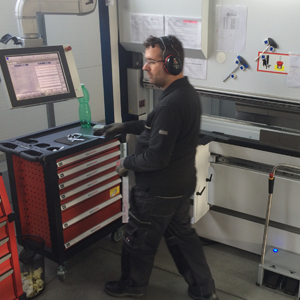 4MEX team member working on CNS TRUMPF